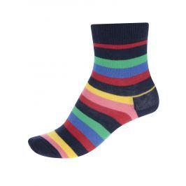 Červeno-modré dětské pruhované ponožky Happy Socks Stripe