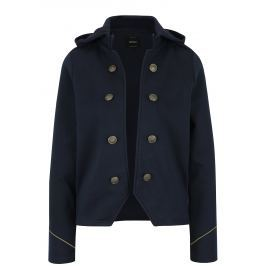 Tmavě modré sako s odepínací kapucí ONLY Luna