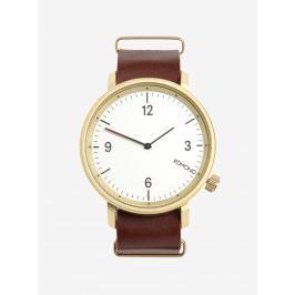 Recenze Dámské pozlacené hodinky v růžovozlaté barvě s koženým ... da3678db22