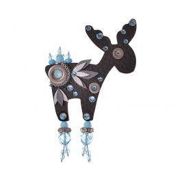 Petra Švarcová Černá brož s modrými krystaly Sob