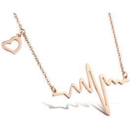 Troli Originální náhrdelník Srdeční tep KNSC-253