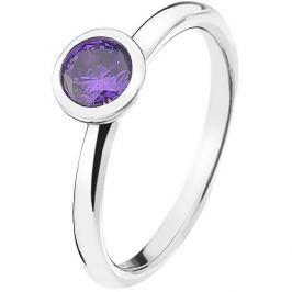 Hot Diamonds Stříbrný prsten Emozioni Scintilla Violet Spirituality ER021 54 mm