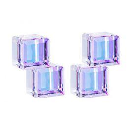 Preciosa Stříbrné náušnice s krystaly Crystal Cubes 6063 43