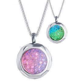 Preciosa Ocelový náhrdelník s krystaly Duo Colour 7313 70