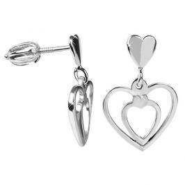 Brilio Silver Zamilované náušnice Srdce 431 001 02719 04