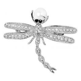 JwL Luxury Pearls brož Vážka 2v1 s pravou perlou JL0383