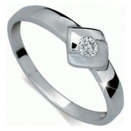Danfil Zlatý zásnubní prsten s diamantem DF1241b 53 mm