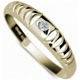 Danfil Originální zlatý prsten DF1282z 62 mm
