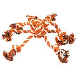 Přetahovadlo DOG FANTASY chobotnice oranžovo-bílá 45 cm