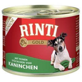 Konzerva RINTI Gold senior králík 185g