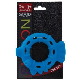 Hračka DOG FANTASY silikonový kroužek světle modrý