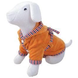 Župan DOG FANTASY s kapucí oranžový M/L
