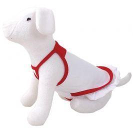 Šaty DOG FANTASY summer bílo-červené S/M