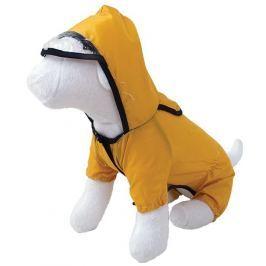 Pláštěnka DOG FANTASY s nohavicemi žlutá 50cm