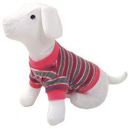 Triko DOG FANTASY s proužky růžové S/M