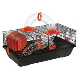 Klec SMALL ANIMAL Libor černá s červenou výbavou