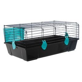 Klec SMALL ANIMAL Michal černá s modrou výbavou