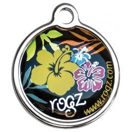 Známka ROGZ Metal Dayglo Floral kovová L