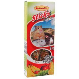 Tyčinky AVICENTRA ovocné pro malé hlodavce 2ks