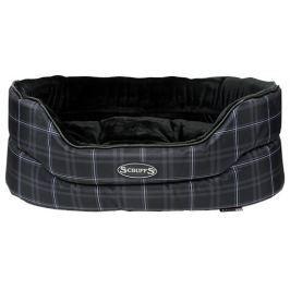 Pelíšek SCRUFFS Balmoral Oval Bed černý 81cm