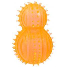 Hračka Dog Fantasy soudek guma oranžová 8cm