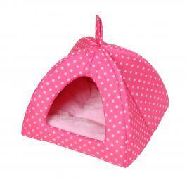 Domeček Iglú Dotty růžový s puntíkem 38 x 38 cm