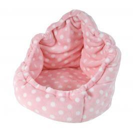 I love pets Pelíšek Adriana de luxe růžový s puntíkem 40cm