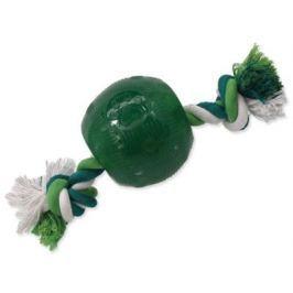 Hračka Dog Fantasy STRONG MINT míček guma s provazem zelený 9.5cm