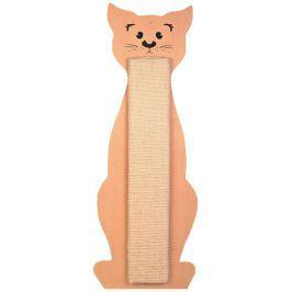 Škrabadlo tvar kočka 21x58cm  béžové