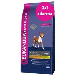 EBC Eukanuba Adult Medium breed 19kg 3+1 zdarma