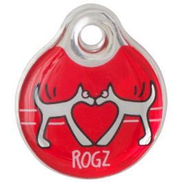 Známka ROGZ ID Tagz Red Heart S