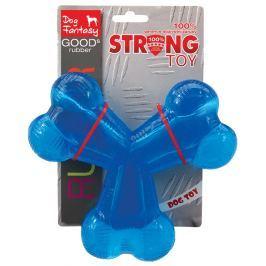 Hračka DOG FANTASY Strong kost gumová trojramenná modrá 15,2cm