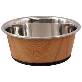 Miska nerez DOG FANTASY 350ml potisk dřevo