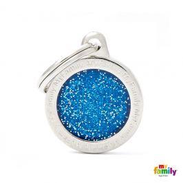 Známka My Family Shine logo kulatá malá modrá