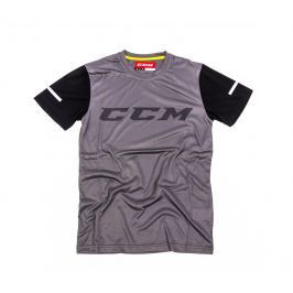 Triko CCM GoDark Tech Tee SS Dark Grey/Black