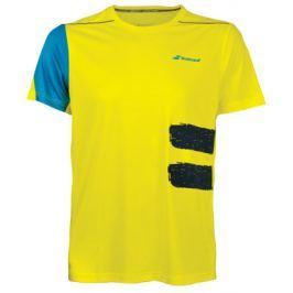 Pánské funkční tričko Babolat Performance Crew Neck Tee Yellow