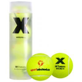 Tenisové míče Tretorn Micro X (4 ks) s logem SportObchod.cz