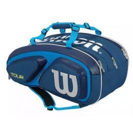 Taška na rakety Wilson Tour V 15 Pack Blue