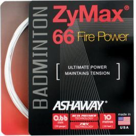 Badmintonový výplet Ashaway ZyMax 66 Fire Power White
