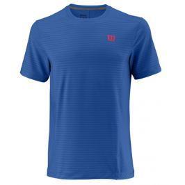 Pánské tričko Wilson Linear Crew Blue