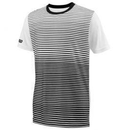 Dětské tričko Wilson Team Striped Crew Black/White