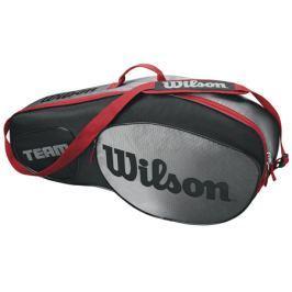 Taška na rakety Wilson Team III 3 Pack Black/Grey