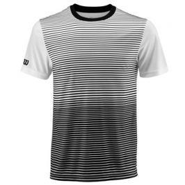 Pánské tričko Wilson Team Striped Crew Black/White