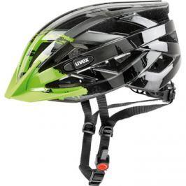 Cyklistická helma Uvex I-VO C tmavě stříbrná-zelená 2017