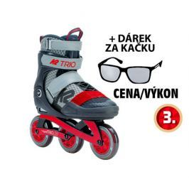 Inline brusle K2 TRIO 100 Gray Red