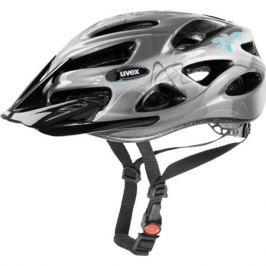 Dámská cyklistická helma Uvex Onyx Lady Line tmavě stříbrná-světle modrá