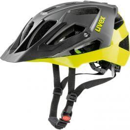 Cyklistická helma Uvex Quatro matná černá-limetková 2017