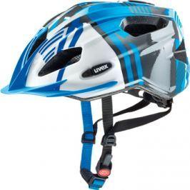 Dětská cyklistická helma Uvex Quatro Junior modro-stříbrná 2017