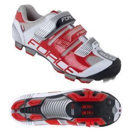 Cyklistické tretry Force MTB FREE bílo-červené