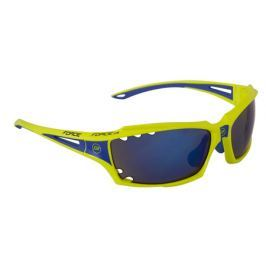 Cyklistické brýle Force VISION fluo, modrá laser skla